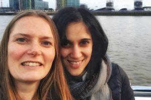 Marta Correale & Keri Hedrick, founders of Mama Loves a Drink