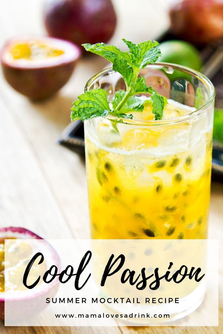 Cool passion mocktail