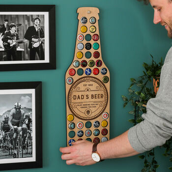 Beer bottle lid art for the wall