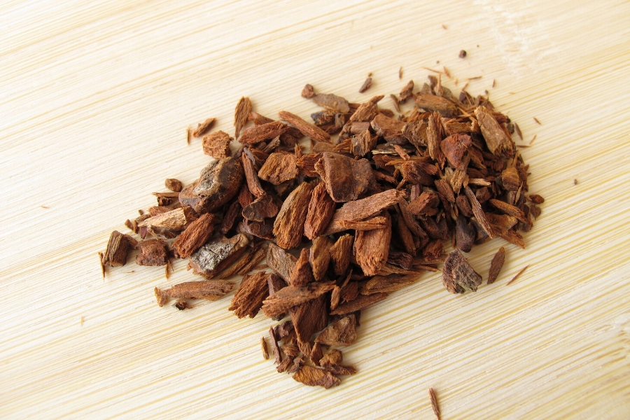 Cinchona bark - used to make quinine in tonic water
