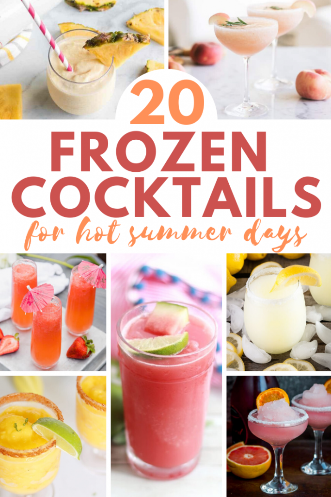 Beauitful Frozen Cocktails collage