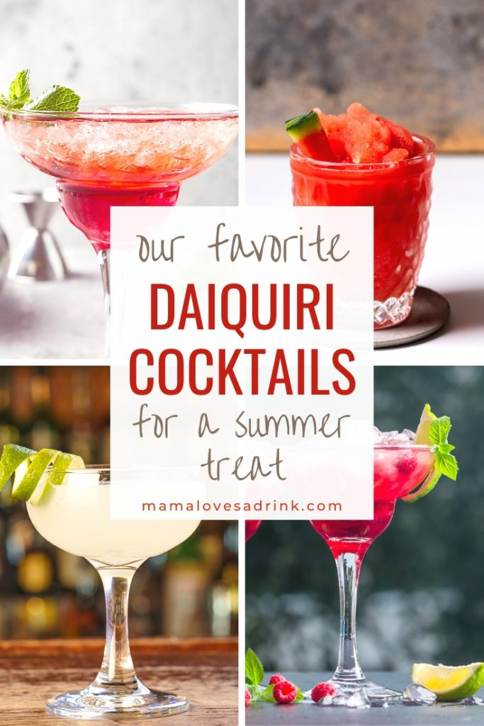 A collection of Daiquiri cocktails - Daiquiri Cocktails for a summer treat