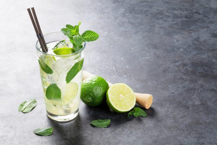 Mojito cocktail glass