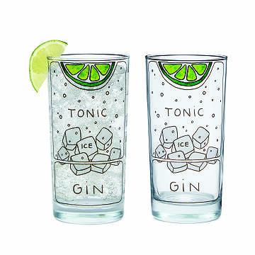 Gin & Tonic Glasses Uncommon Goods