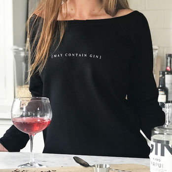 May Contain Gin novelty ladies jumper
