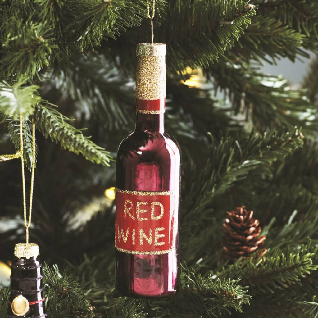 Not on the High Street Red Wine Christms Ornament