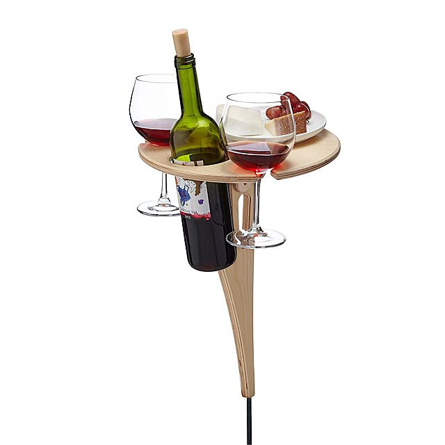 garden wine rack occasional table for wine bottles and glasses