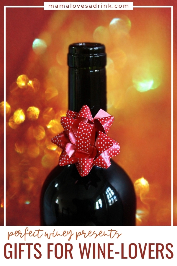 bottle of wine with a bow - gifts for wine lovers