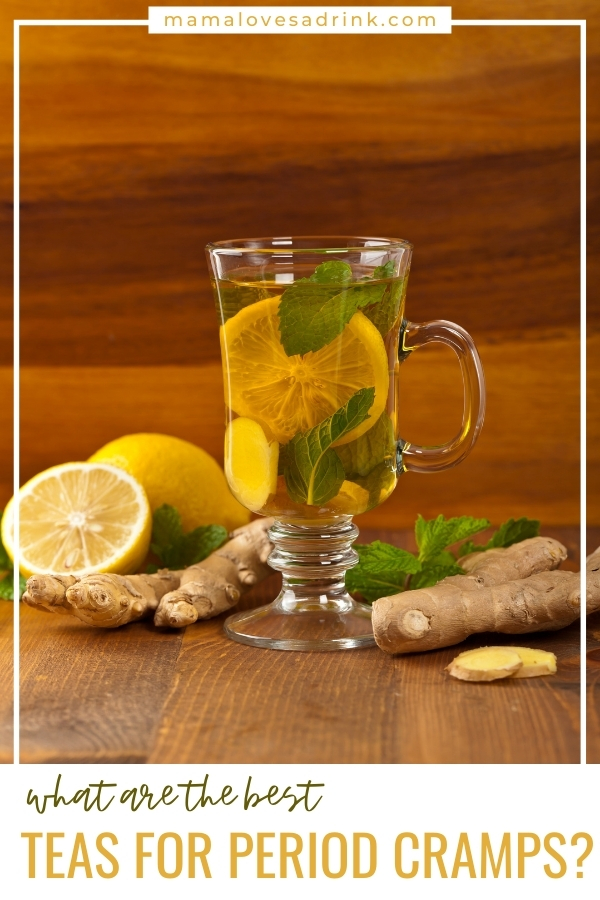 Lemon and ginger tea in a tall clear glass