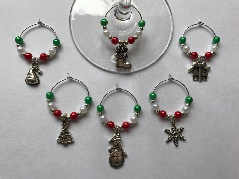 wine charms christmas theme