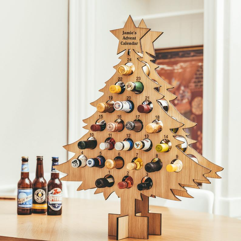 Small beer bottle or wine bottle advent