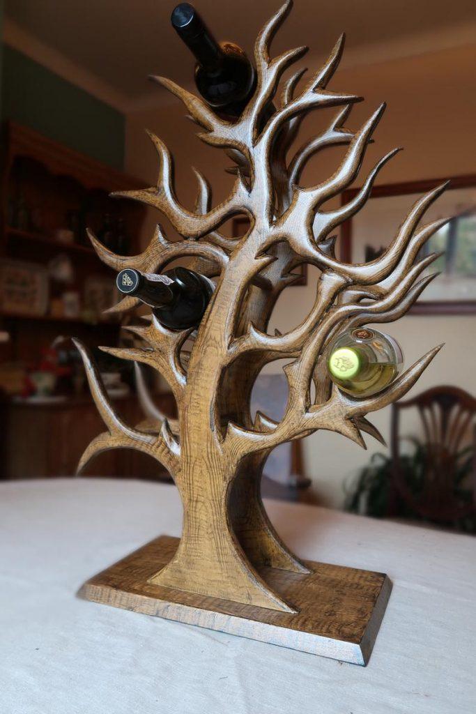 Wooden hand made wine rack