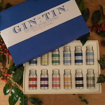 Gin in a tine 12 days of christmas gift set