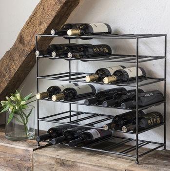 classic black wire wine rack