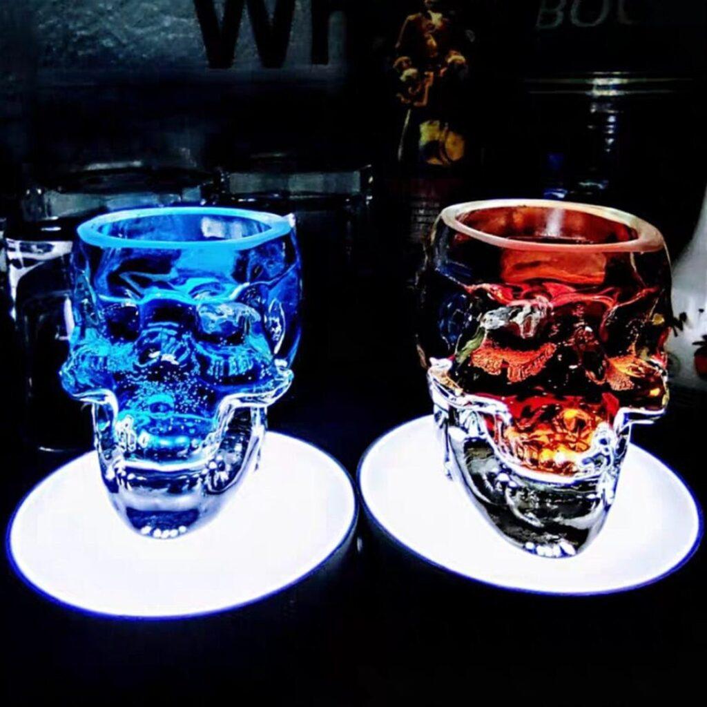 Halloween skull cocktail glasses