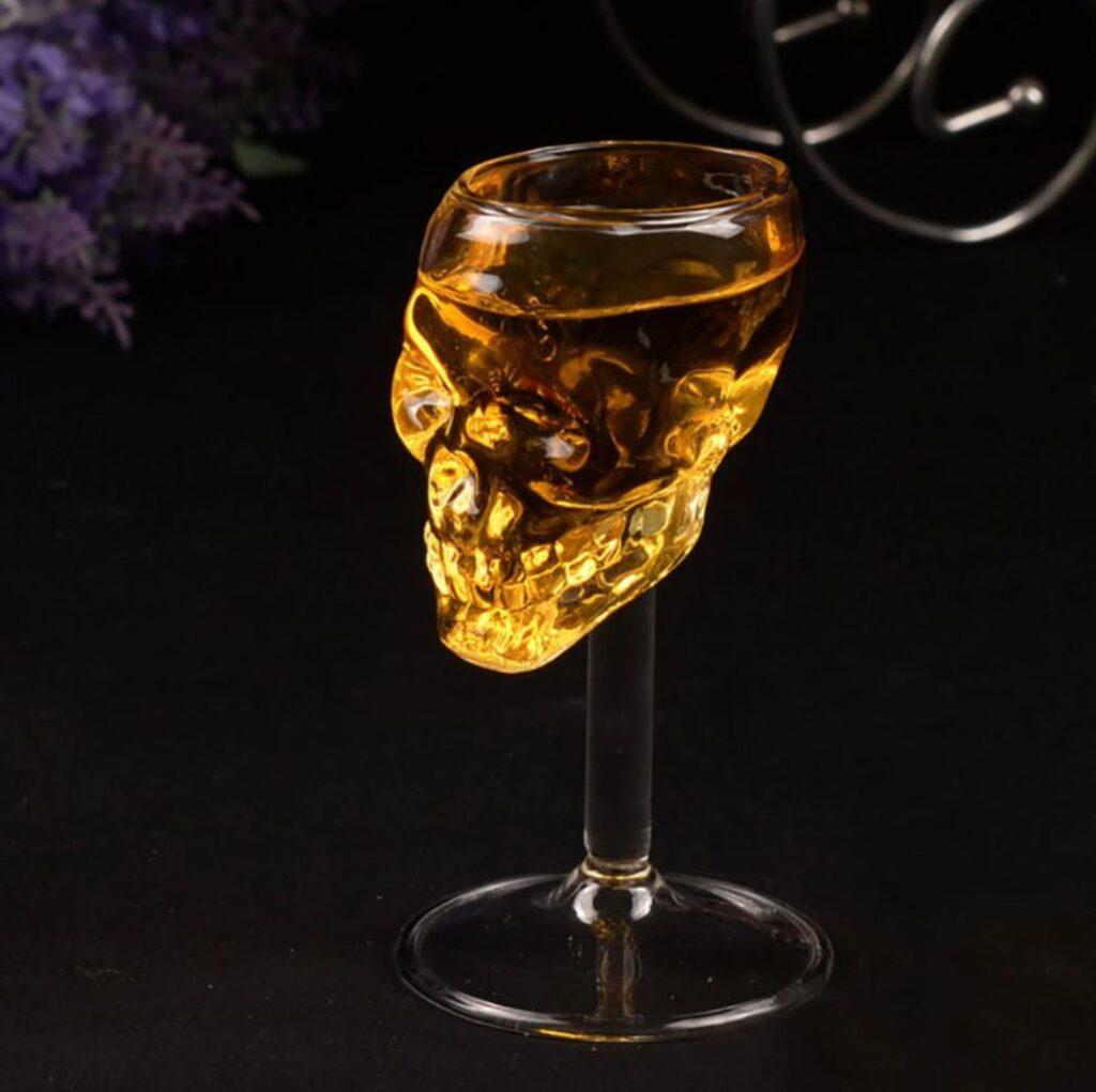 Skull Wine Tumbler Glass
