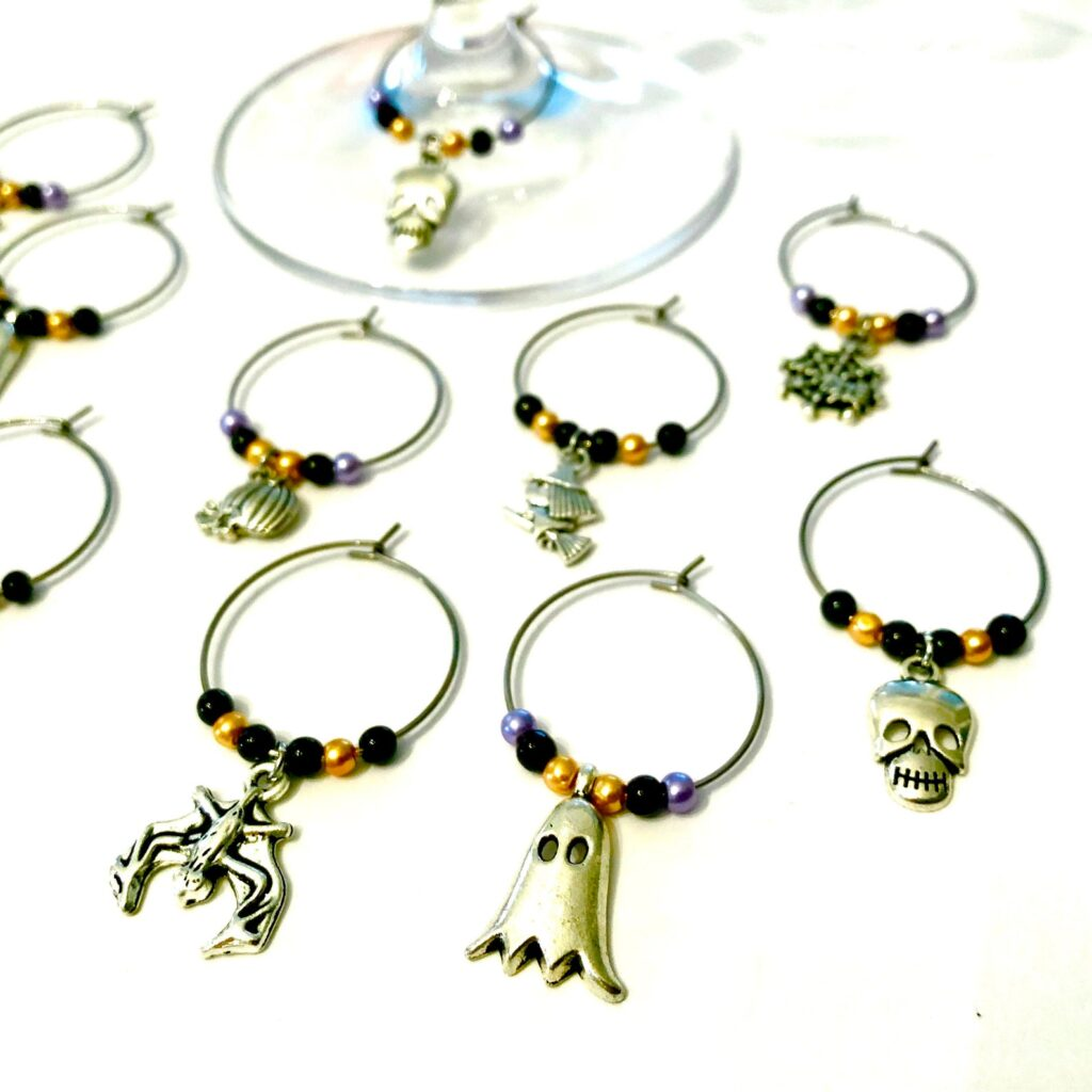 Halloween Wine Charms from Etsy