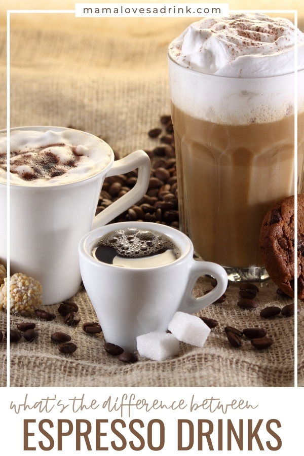 Different types of espresso drink