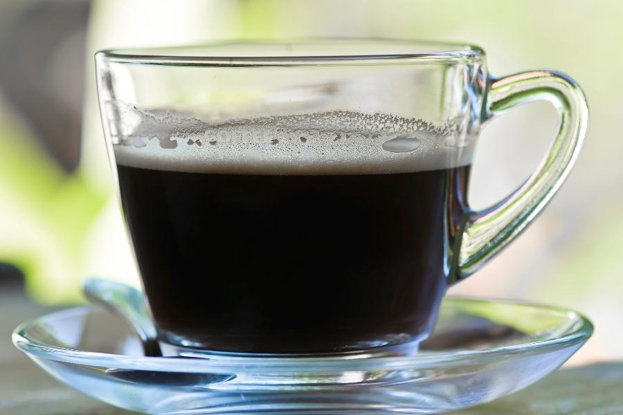An Americano espresso drink