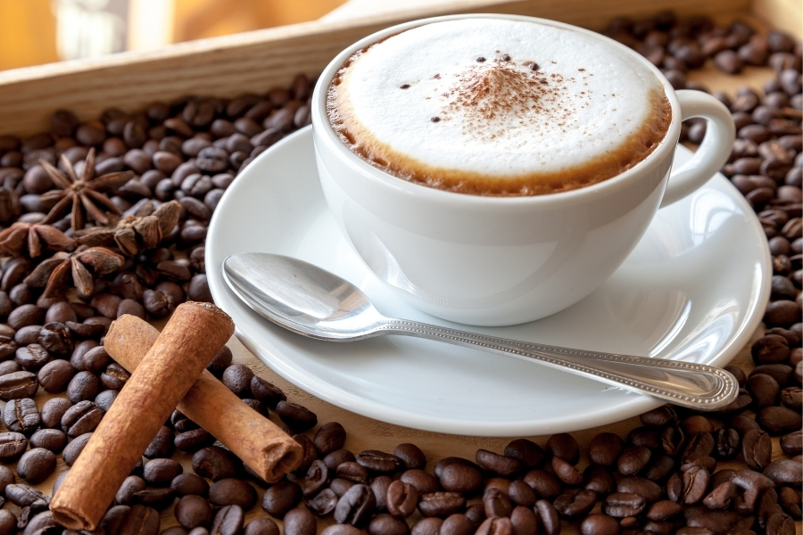 a cup of cappuccino - espresso drinks