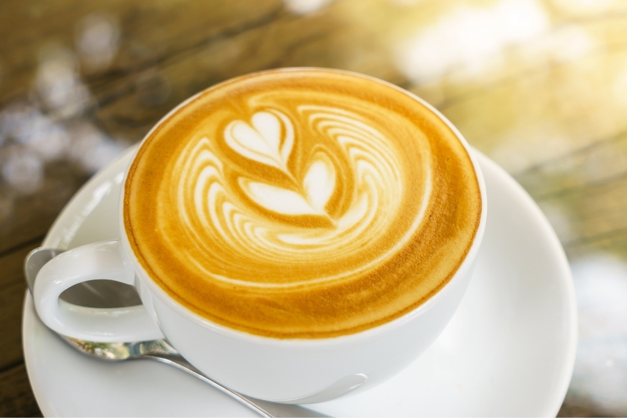 a cup of cafe latte- espresso drinks